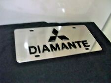 Stainless Steel Mitsubishi Diamante License Plate. Officially licensed product