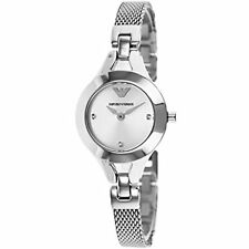 NEW EMPORIO ARMANI SILVER STAINLESS STEEL SILVER DIAL LADIES WATCH AR7361