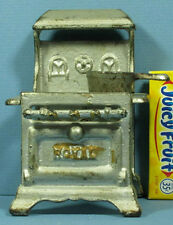 """AUTHENTIC OLD SMALL CAST IRON TOY STOVE """"ROYAL"""" + SAUCE PAN * FREE SHIP * CI375"""