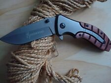 Browning x47 Survival folding knife wood Handle.