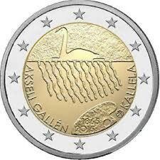 FINLANDIA 2015. MONEDA DE 2 EUROS CONMEMORATIVA 150 ANIVERSARIO DE AKSELI GALLEN