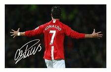 CRISTIANO RONALDO - MANCHESTER UNITED AUTOGRAPHED SIGNED A4 PP POSTER PHOTO