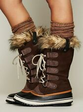 Sorel JOAN of Arctic faux FUR Women Snow winter Boots Brown Tobacco 7.5