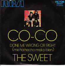 "7"" the SWEET Co-Co / Done me wrong or right 45 SPANISH PS 1971 near MINT"