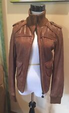 XDYE faux Leather Bomber Jacket. Brown. Euro L But Fits Like A Small