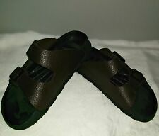 BIRKI'S Birkenstock Arizona PEBBLED BROWN SANDALS MEN'S 41 US Sz 7.5