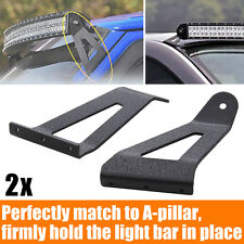 """Windshield Roof LED Work Light Bar Mounting Brackets For Ford  F150 Curved 50""""IN"""