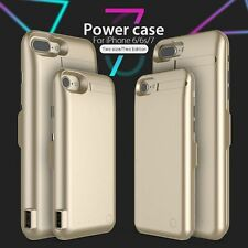 Genuine GOLD IPHONE 7,7+ CUSTODIA BATTERIA ESTERNA POWER PACK ricarica COVER 5000mah