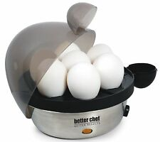 Better Chef Electric Hard Boiled Egg Cooker 470S, Stainless, New, Free Shipping