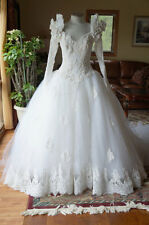Vintage Romantic Princess Style Wedding Gown - Eve of Milady