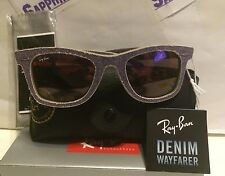 RAY BAN Sunglasses Wayfarer Denim RB2140 1167/S5 50-22-2N NEW $200.00 Retail Tag
