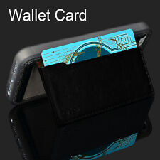 2016 Wallet Card PU Leather Stand Back Case Cover For iPhone 5/5s/SE Black