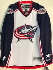 Reebok Premier NHL Jersey Blue Jackets Team White sz XL