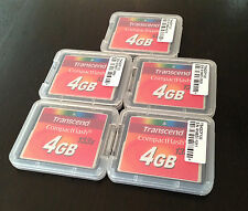 Transcend 4GB 133x Speed Compact Flash Card (Lot Of  5 Cards)