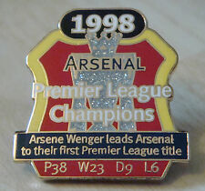 ARSENAL Victory Pin 1998 PREMIER LEAGUE CHAMPIONS Danbury Mint badge 30mm x 32mm