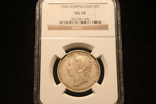 """1900 Newfoundland Silver 50 Cents NGC 10 VG """"Key Date"""" """"Low Mintage"""" """"Rare"""""""