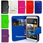 Book Wallet Flip Leather Case Card Cover For Various HTC Mobile Phones