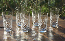 Cristal Saint Louis Chantilly  6 verres Long Drink  Orangeade - Highball glasses