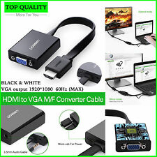HDMI to VGA - HIGH QUALITY 1080P Adapter Digital to Analog Audio Converter Cable