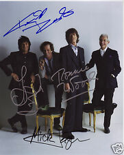 THE ROLLING STONES ENTIRE GROUP AUTOGRAPH SIGNED PP PHOTO POSTER