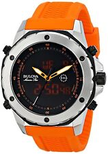 Hot! Marine Star Bulova Men's 98C118 Analog-Digital Resin Orange Sport Watch NIB