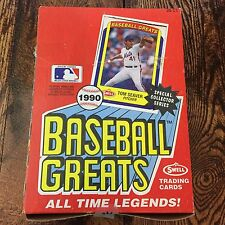 1990 SWELL BASEBALL GREATS WAXBOX (36) PACKS - CLEMENTE, RUTH, !! RARE !!
