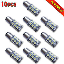 10x 5050 6000K Car 27 SMD White 1156 BA15S RV Trailer Interior LED Lights Bulb B