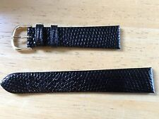NEW SPEIDEL WATCH BAND BRACELET - Genuine lizard Leather 19mm Black New