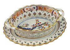 Great Early 19thC Spode Porcelain Kakiemon Pattern 282 Openwork Chestnut Basket