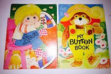 My Tie-it Book / My Button Book - Learn To Do, Vintage Children's Books 1975