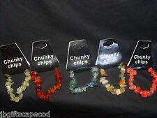 5 CHUNKY CHIP BRACELETS - NWT- BALANCE, HEALING, CALMING, ENERGY, SENSITIVITY