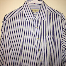 EUC MENS TOMMY BAHAMA STRIPED LONG SLEEVE DRESS SHIRT 15.5 32/33