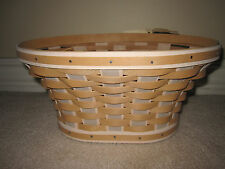 Longaberger 2011 Washed Linen Bowl Basket Combo with pro - Brand new