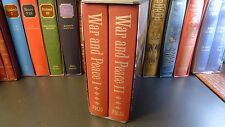 Folio Society WAR AND PEACE, Leo Tolstoy, 2 Volumes, Slipcase, Literature