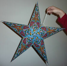 Diwali 5 Point Star Paper Lampshade Butterfly Design with Glitter