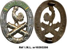 39° Régiment d'Artillerie, dos lisse argenté, fixation 2 pontets Drago (7143)