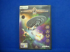 pc STAR TREK Starfleet Command 3 III Epic 3D Combat Battles MINT DISC CD ROM