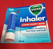 Vicks 0.50ml inhaler Clears Stuffy Nose,makes breathing feel clear and cool