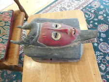Vintage African Face Mask from Ivory Coast of Baule Africa
