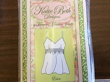 KATIE BETH DESIGNS PATTERN -ERICA- SMOCKED CAMISOLE SIZE XS-L