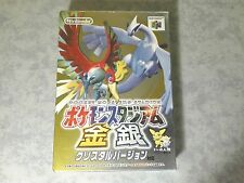 POCKET MONSTERS POKÉMON STADIUM GOLD & AND SILVER NINTENDO 64 N64 JAP GIAPPONESE