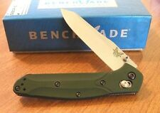 BENCHMADE New 940 Green Handle Osborne Plain Edge S30V Blade Knife/Knives