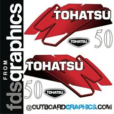 Tohatsu 50 outboard engine decals/sticker kit