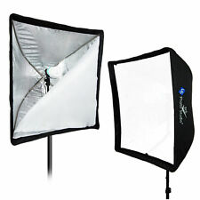 NEW 2 X 60x60cm Umbrella Softbox For Speedlite / Studio Flash / Speedlight