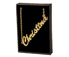 CHRISTINA 18ct Gold Plating Necklace With Name - Designer Brand Stylish Gifts