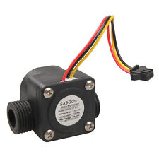 Black G1/2 Water Flow Sensor Fluid Flowmeter Switch Counter 1-30L/min Meter Hot