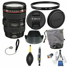 Canon EF 24-105mm f/4L IS USM Autofocus Lens for Canon EOS SLR Lens Bundle + UV