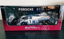 AUTOART PORSCHE 917K SEBRING WINNER 71 ELFORD LARROUSSE #3 1/18 80034 DIECAST