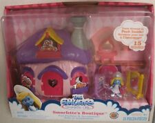 Smurfette Boutique Mushroom House * Smurfs figure & Playset New in box 15 pieces