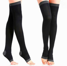Compression Socks Travel Flight Thigh High Stockings Anti-Fatigue Varicose Veins